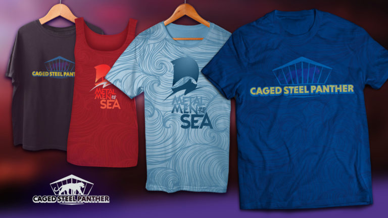 Metal Men and the Sea & Caged Steel Panther T-shirt Concepts