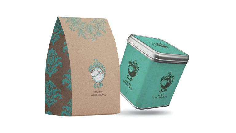 Kraken's Cup Tea Tins and Goodie Bags